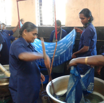 Batik resist dyeing at Aranya Naturals