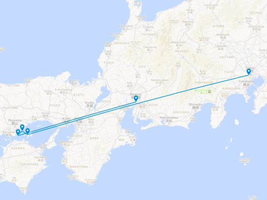 SFS TO17 JP Post-Tour Extension Route